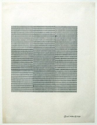 Untitled,Carl Andre (1960)