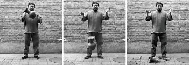 Ai Weiwei, Dropping a Han Dynasty Urn, 1995, Triptych