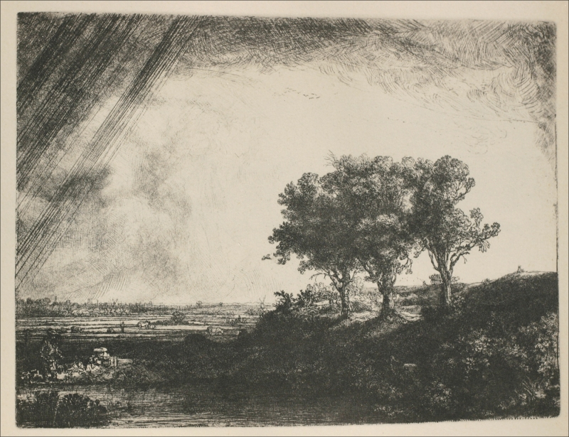 The Three Trees, Rembrandt Van Rijn (1643)