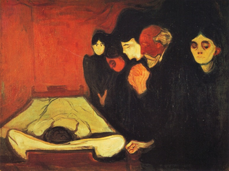 By the Deathbed, Edvard Munch, (Norwegian, 1893)