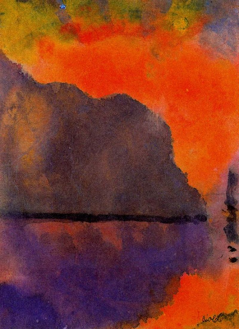 Life by the Sea (in Evening Light), Emil Nolde (German 1867-1956)