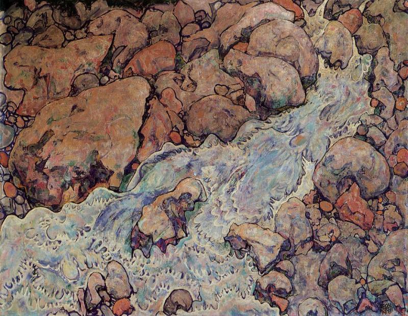 Mountain Torrent, Egon Schiele (Austrian, 1918)