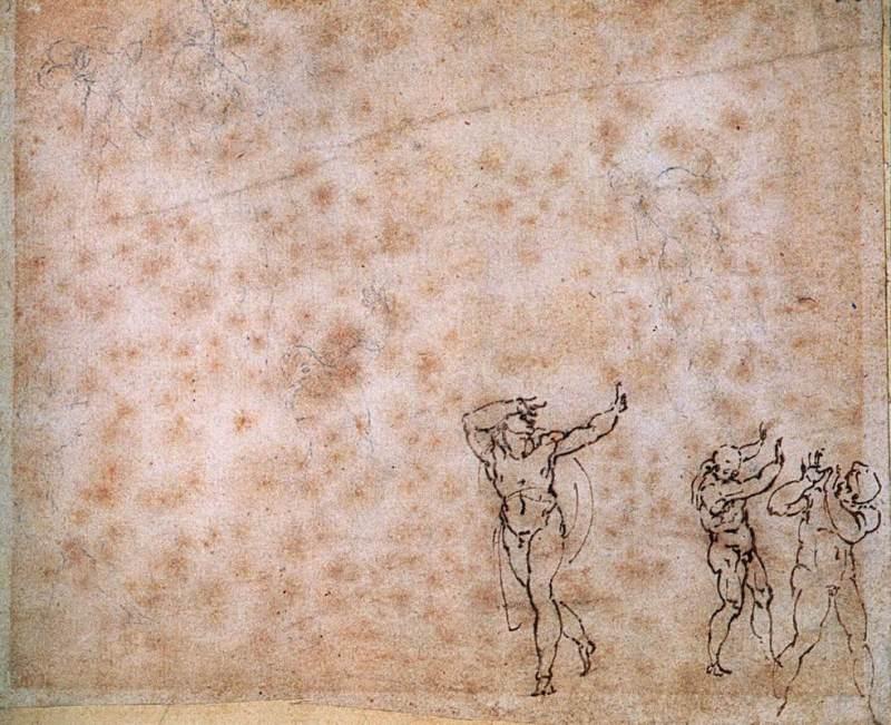 Transfiguration Study, Michelangelo  Buonarroti (early 16th century.)