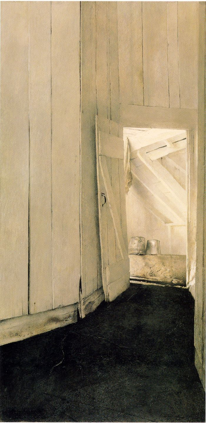 Cooling Shed, Andrew Wyeth (1953, American)