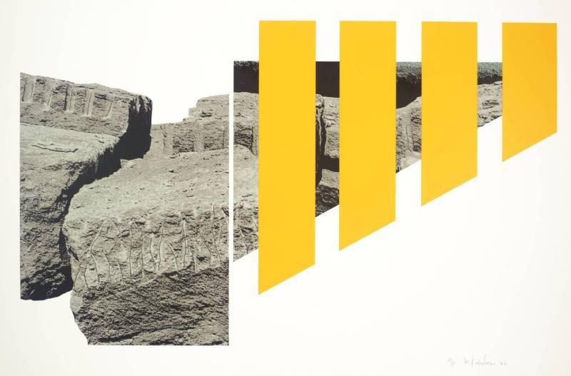 Menashe Kadishman, Yellow Rocks (1973-4, Israel)