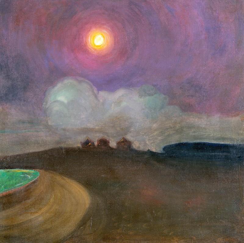 Moon, Gustaw Gwozdecki (c.1908, Poland)