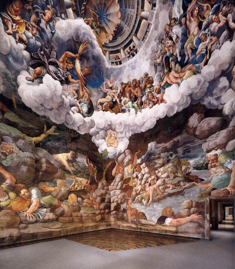 Sala dei Giganti, Fall of the Giants (Palazzo del Te fresco detail)  Giulio Romano (1526-34)