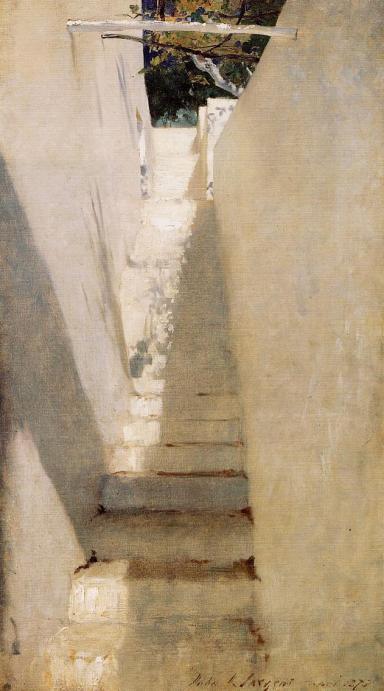 Staircase in Capri, John Singer Sargent (1878, American)