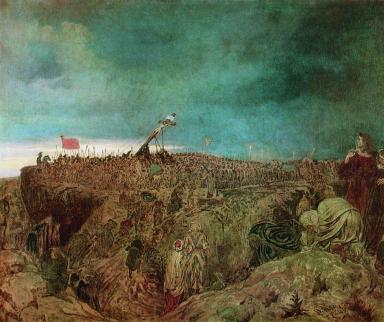 Calvary (Crucifixion), Ilya Repin (Russian, 1869)