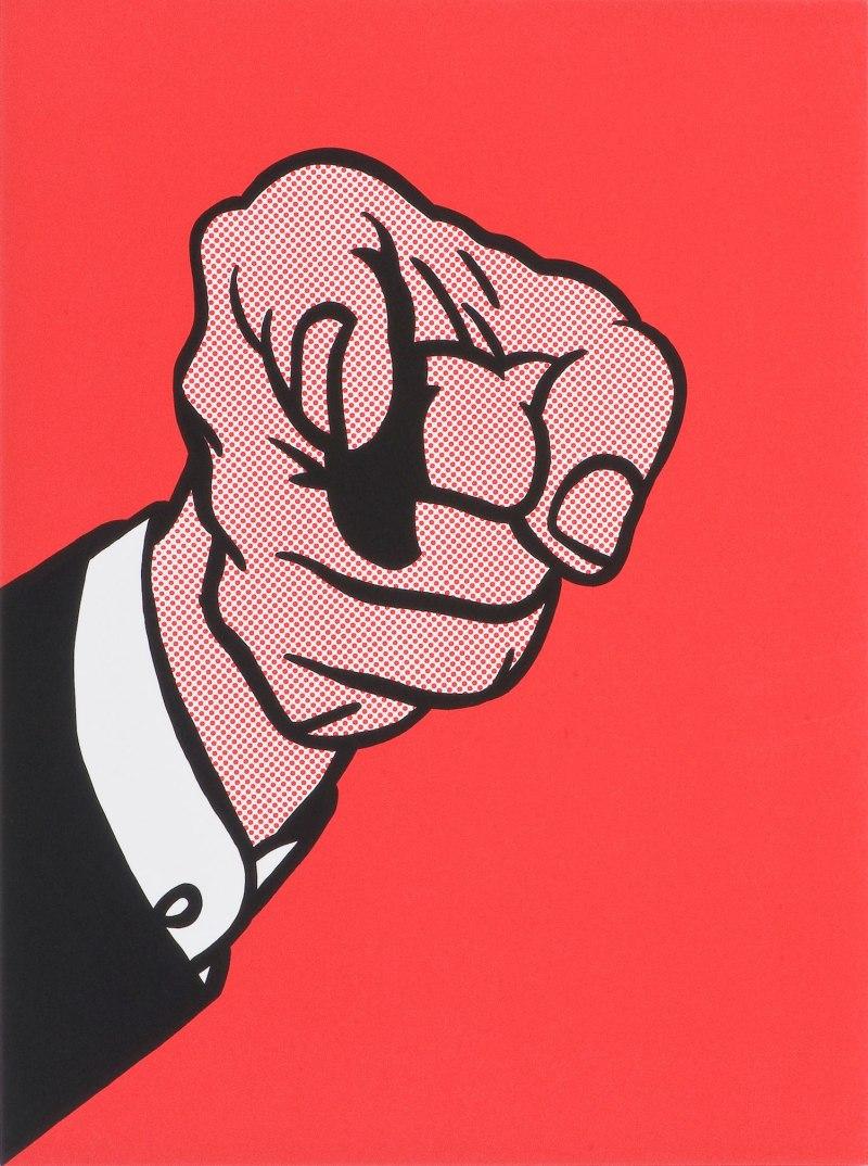 Finger Pointing, Roy Lichtenstein (1973, American)