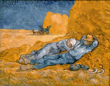 Noon Rest After Work, Vincent Van Gogh (1890)