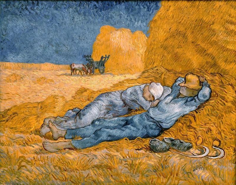 Noon Rest After Work, Vincent Van Gogh (1890)