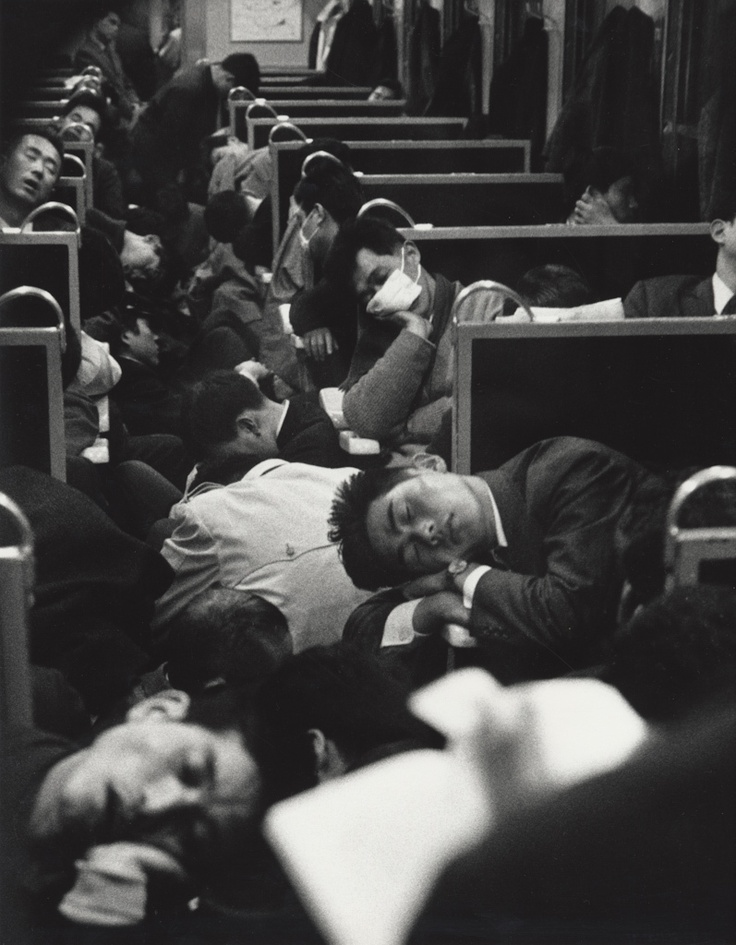 People Sleeping on a Night Train in Japan, Nicolas Bouvier (1964).