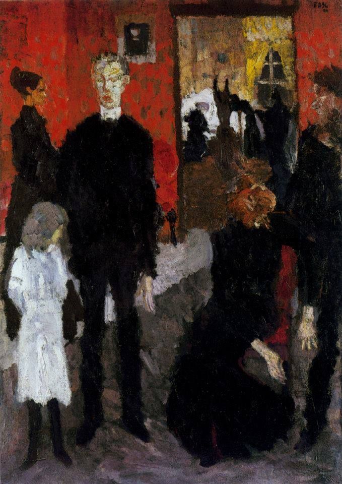 Small Death Scene, Max Beckmann (1906, German)