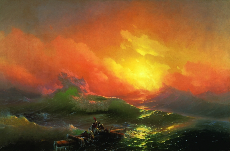 The Ninth Wave,  Ivan Aivazovsky (1850, Crimea, Ukraine)