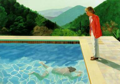Portrait of an Artist (Pool with two figures), David Hockney (1972, English)