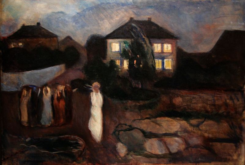 The Storm, Edvard Munch (Norwegian, 1893)