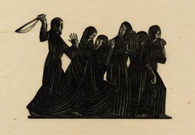 Christ and the Money-Changers 1919 by Eric Gill 1882-1940