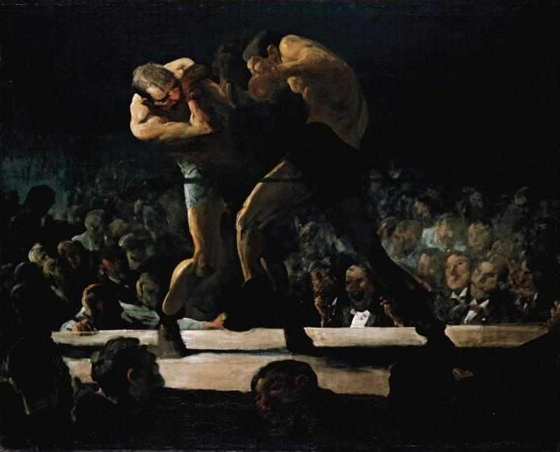 Club Night, George Bellows  (1907, American)