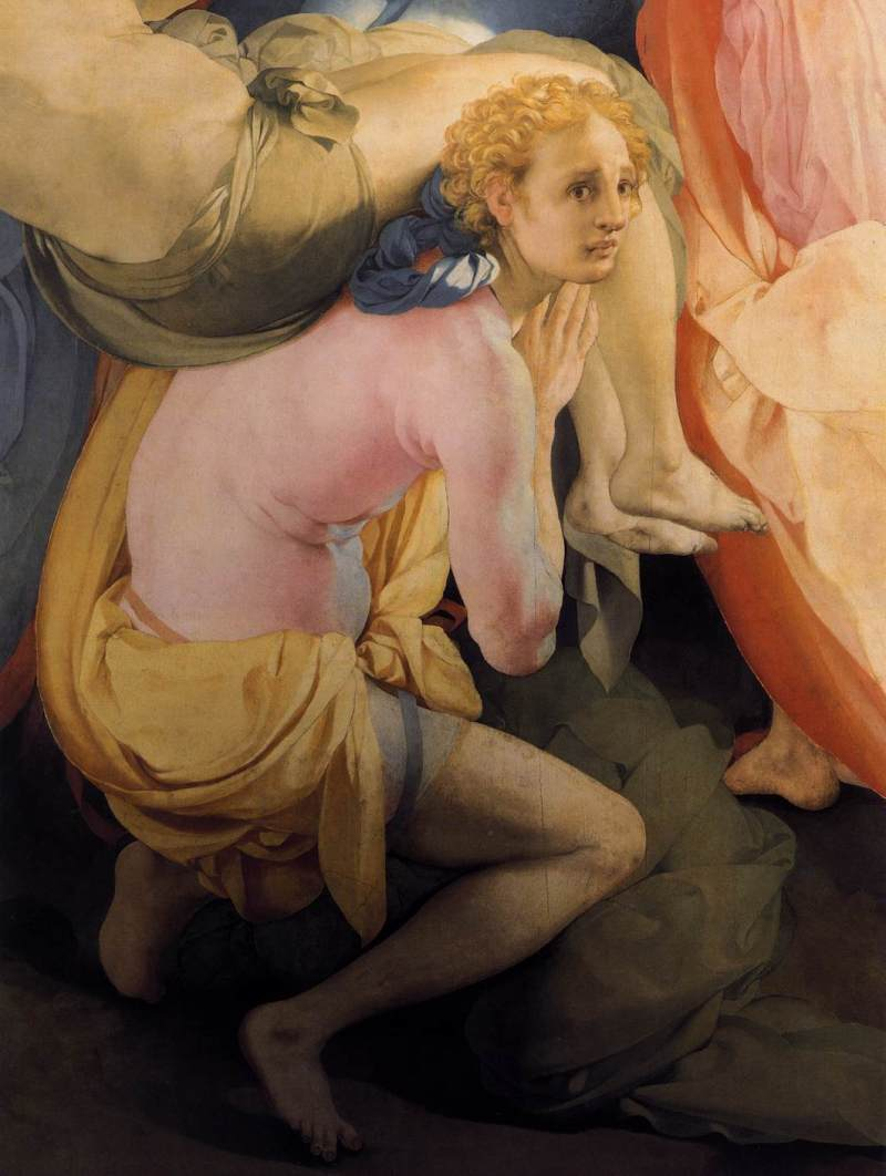 Deposition from the Cross (detail), Jacopo Pontormo (c.1526, Italian)