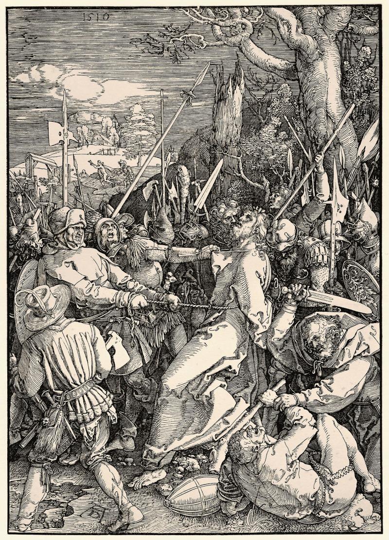 Der Verrat an Christus. The Betrayal of Christ, Albrecht Durer (German, 1510)