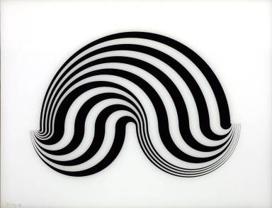 Fragment 5/8 1965 by Bridget Riley born 1931