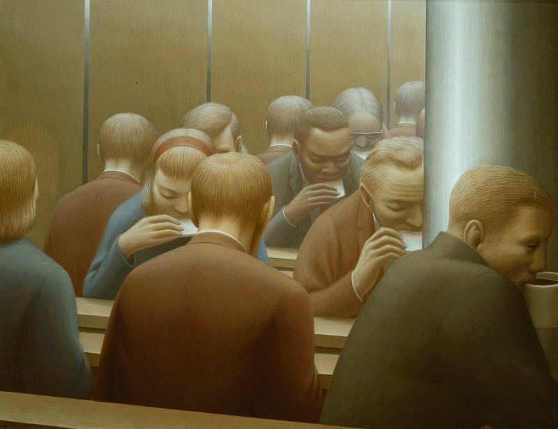 Lunch, George Tooker (1964, American)