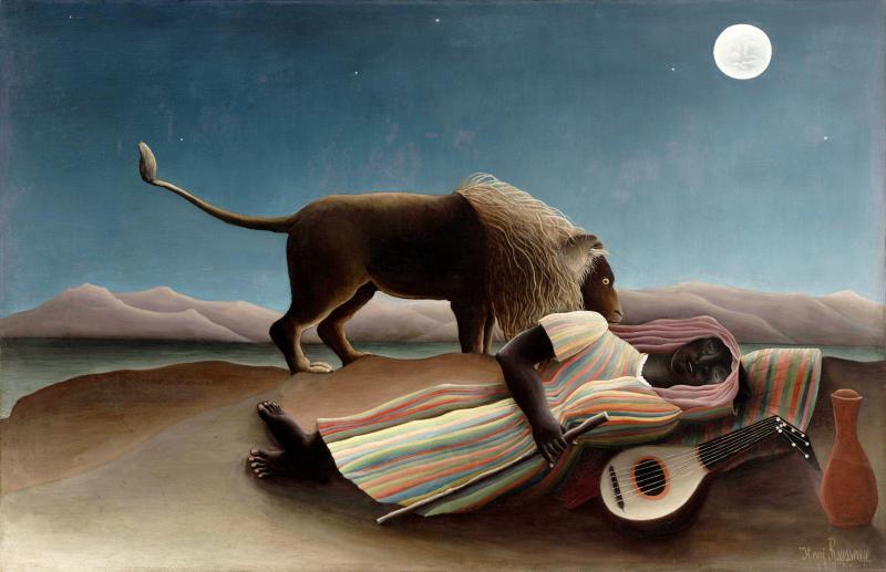 The Sleeping Gypsy, Henri Rousseau (1897, French)
