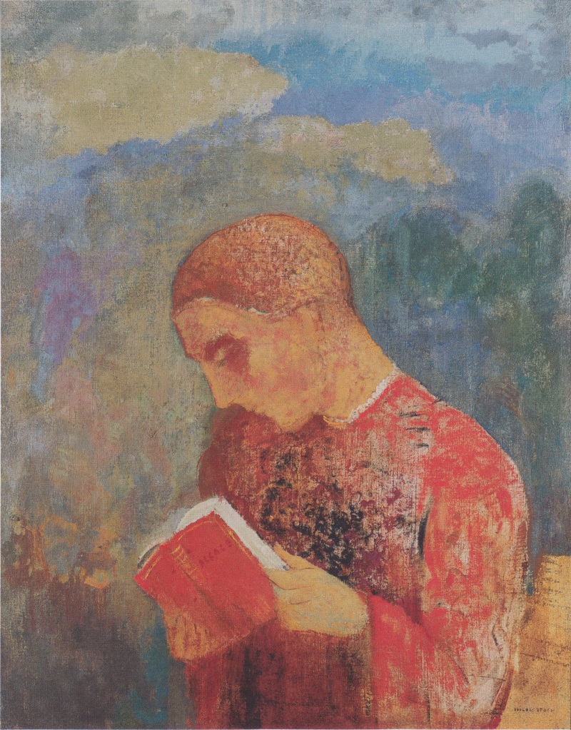 Alsace or Reading Monk, Odilon Redon (c.1914, French) (2)