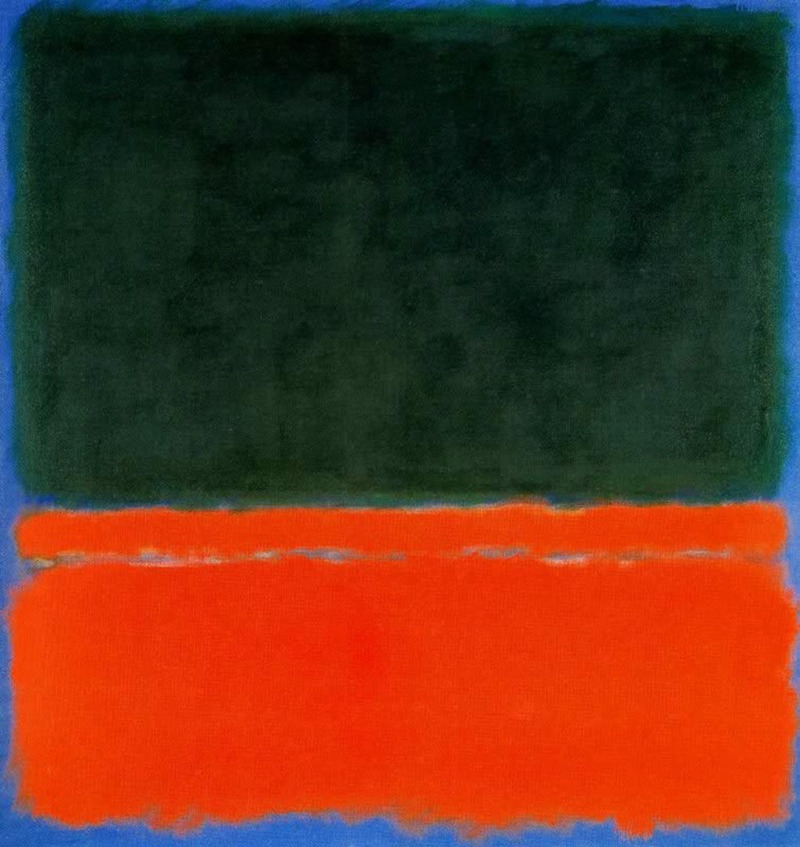Green Red Blue, Mark Rothko (1955, American)