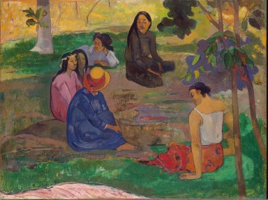 The Conversation (Les Parau Parau), Paul Gauguin (1891, French)