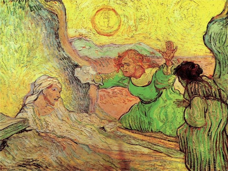 The Raising of Lazarus (after Rembrandt), Vincent van Gogh (1890, Dutch)