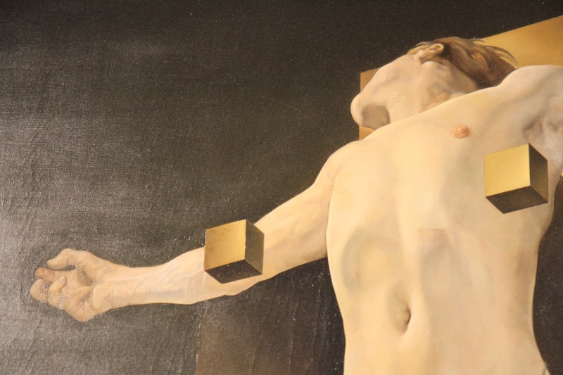 Crucifixion (detail), Salvador Dali (1954, Spanish)