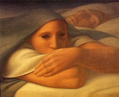 Night 1,George Tooker (1963, American)