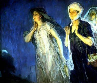 The Three Marys at the Tomb Resurrection Morning, Henry Ossawa Tanner (1910, American)