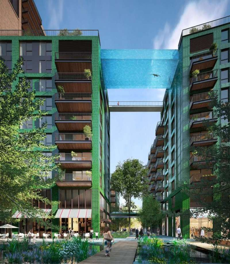 Proposed Sky Pool Project, Embassy Gardens (2015, London)