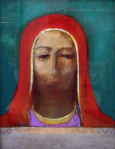 Silence, Odilon Redon (d.1916, French)