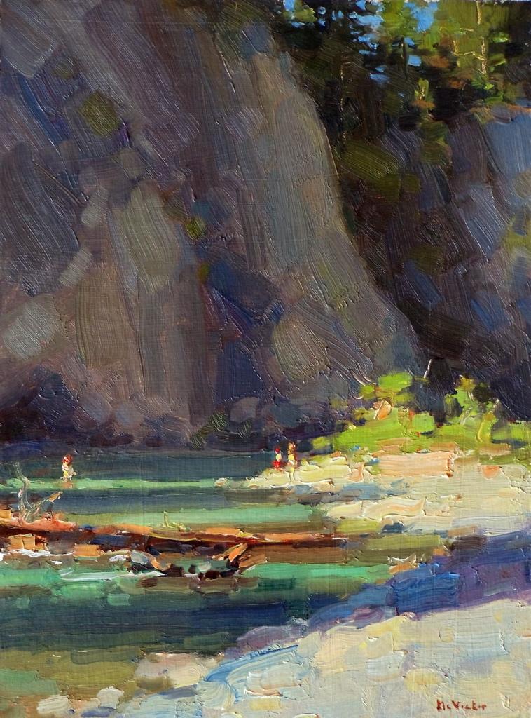 Van Duzen River, Afternoon Shadows, Jim McVicker (2012, American)
