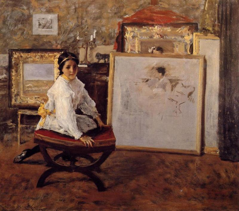 Did You Speak To Me, William Merritt Chase (1897, American)