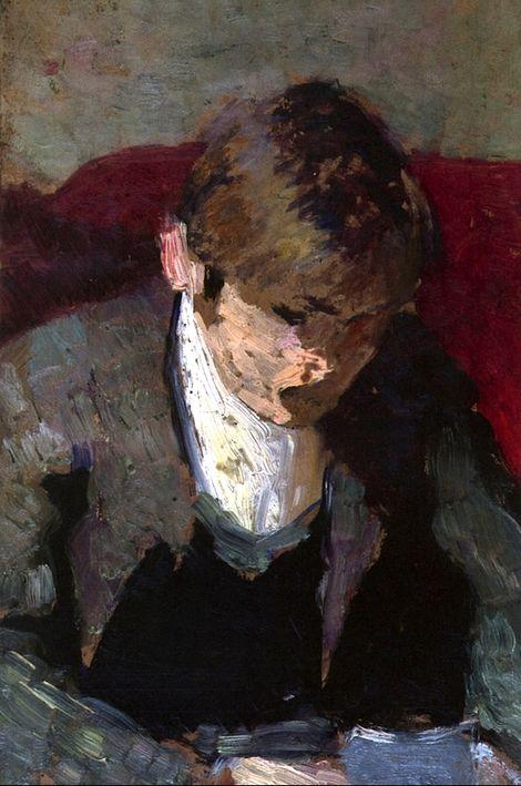 Ker-Xavier Roussel Reading a Letter, Edouard Vuillard (c.1890, French)