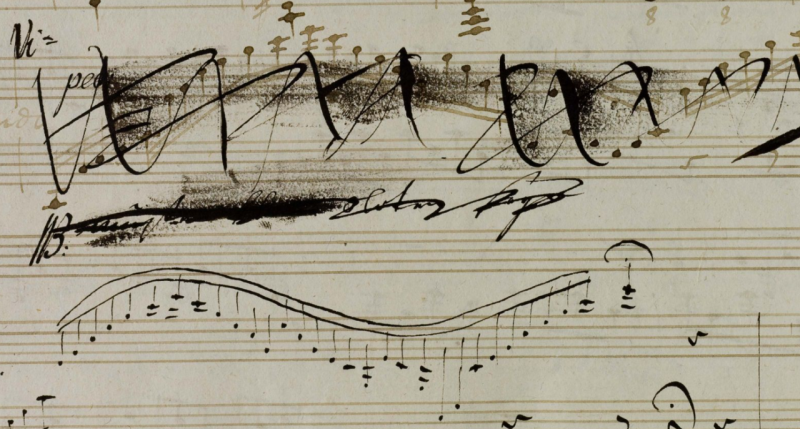 Musical notation by Ludwig van Beethoven