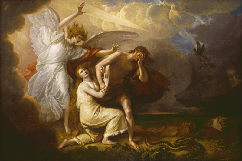 The Expulsion of Adam and Eve from Paradise, Benjamin West (1791, American)