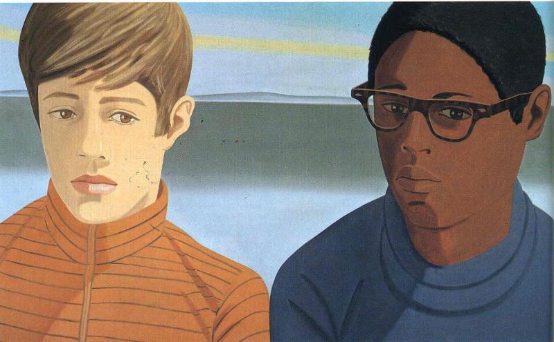 Vincent and Tony, Alex Katz (1969, American)