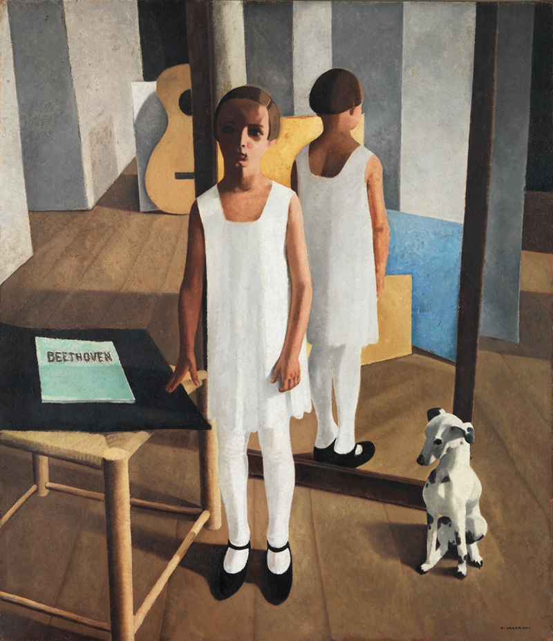 Absorbed in Thought, Felice Casorati (d.1963, Italian)