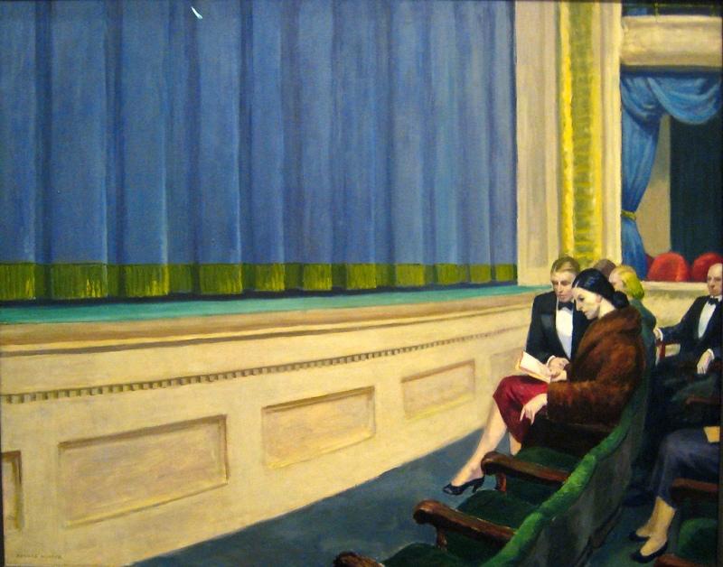 First Row Orchestra, Edward Hopper (1951, American) (2)