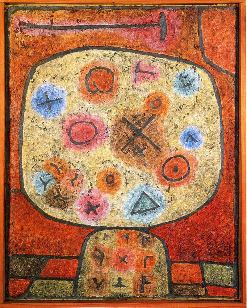 Flowers in Stone, Paul Klee (1939, Swiss)