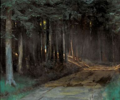 Forest with Sunlight Pouring In, Louis Rivier (Swiss, 1885-1963)