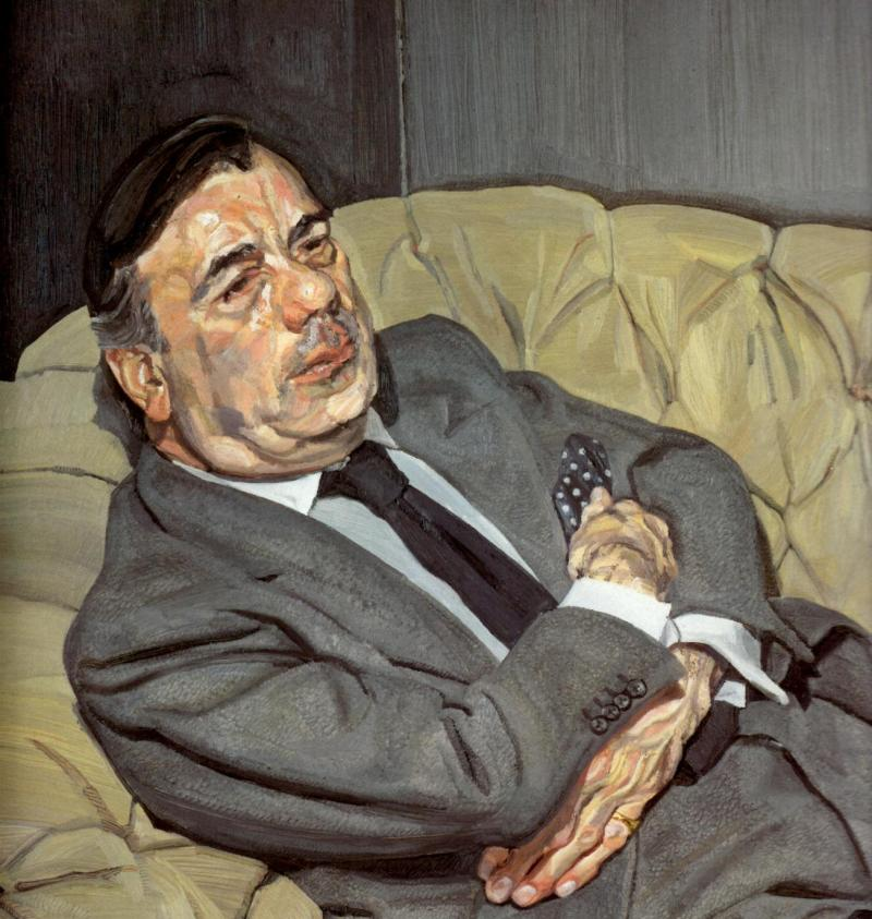 Guy Half Asleep, Lucian Freud (1982, British)