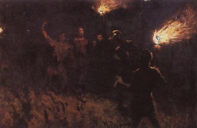 Taking Christ Into Custody, Ilya Repin (1886, Russian)