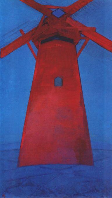 The Red Mill, Piet Mondrian (1911, Dutch)